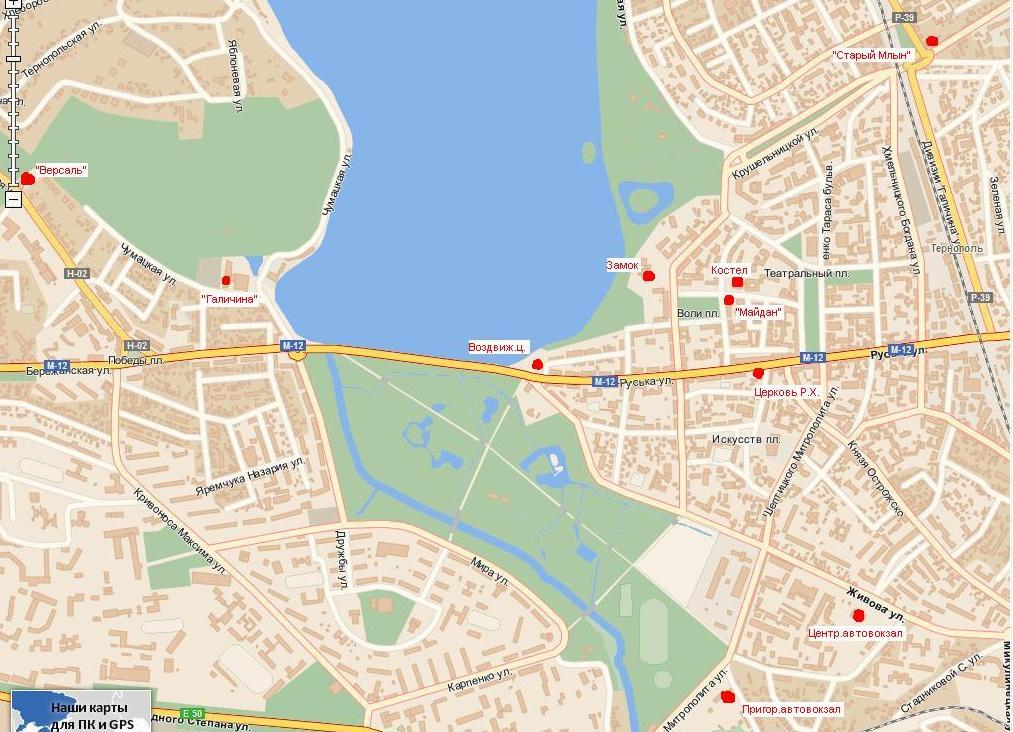 Схема окрестностей Борщева